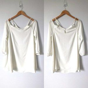 Lovers + Friends Cold Shoulder Blouse Ivory Small